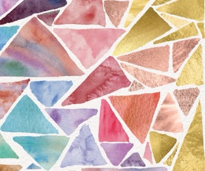blue, triangles, and pink image