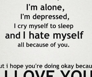 love, depressed, and quotes image