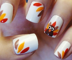 nails, turkey, and autumn image