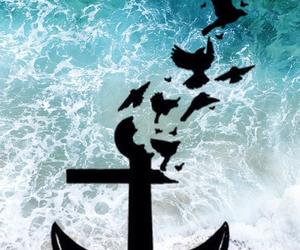 anchor, bird, and tattoo image