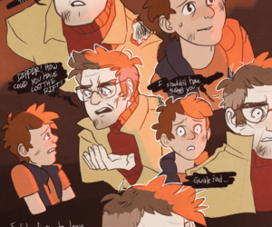 gravity falls, dipper pines, and stanford pines image