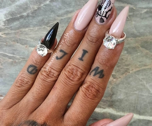 nails, girly, and style image