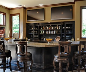 living room and home bar image