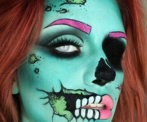 Halloween, makeup, and zombie image