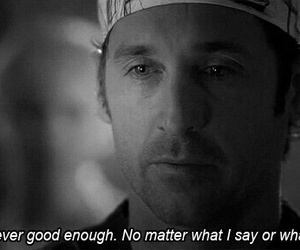 grey's anatomy, sad, and quotes image