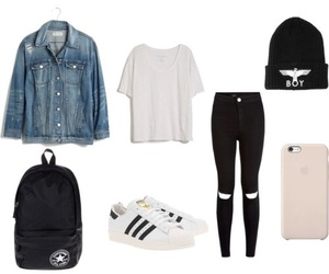 converse, outfit, and adidas image