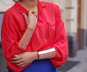 fashion, outfit, and bracelet image