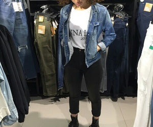 beauty, curly, and denim image