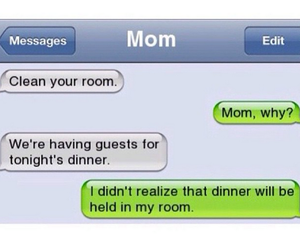 dinner, funny, and mom image