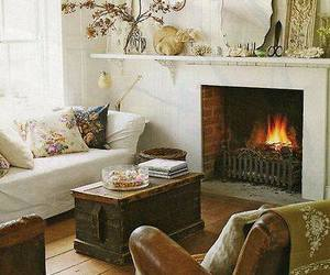 fireplace, home decor, and living room image