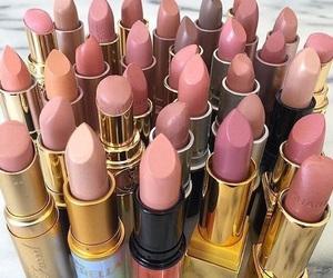 lipstick, makeup, and pink image