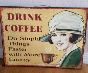 coffee, drink, and funny image