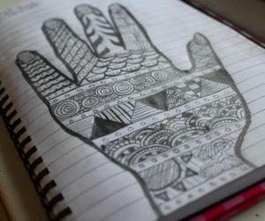 bored, doodles, and hand image
