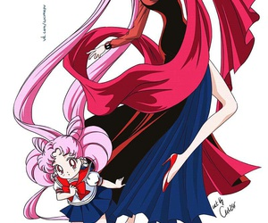 black lady and sailormoon image