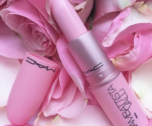 coral, girly, and lipstick image
