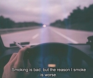 bad, broken, and cigaret image