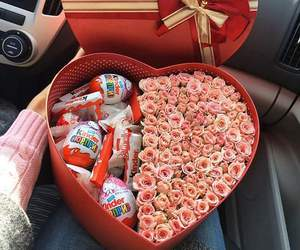 car, chocolate, and heart image