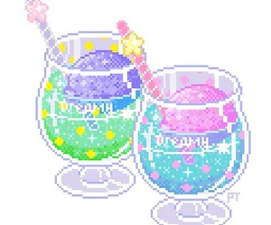 pixel, drink, and kawaii image
