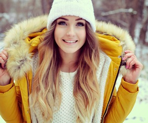 fashion, winter, and yellow image