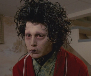 johnny depp, edward scissorhands, and movie image