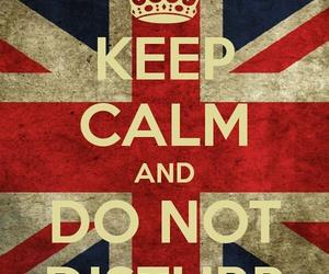 do not disturb, keep calm, and english flag image