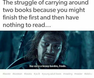 frodo, lord of the rings, and heavy burden image
