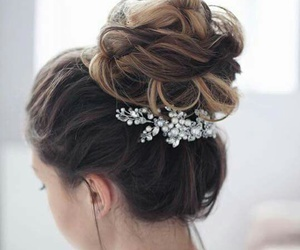 accessories, brunette, and wedding image