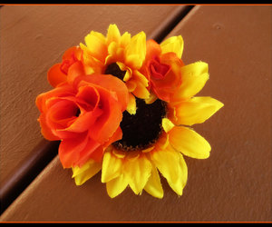 autumn, sunflower, and love image