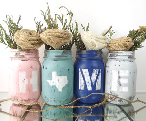 home decor, painted jars, and state decor image