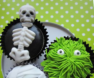 Halloween and cupcake image