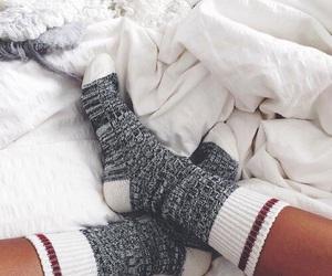 socks, cozy, and winter image