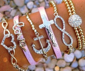love, anchor, and bracelet image