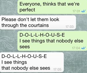chat, dollhouse, and Lyrics image