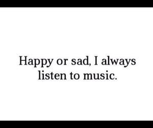 happy, music, and sad image
