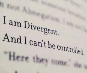 divergent, book, and quotes image