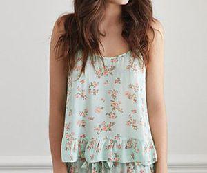 flower, cute, and pajamas image