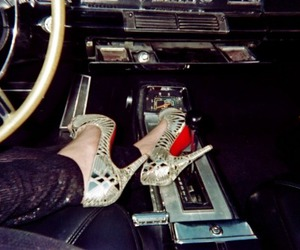 shoes, car, and heels image