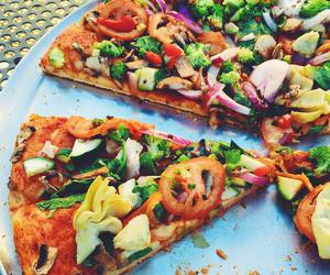 food, pizza, and vegan image