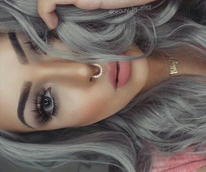 makeup, girl, and hairstyle image