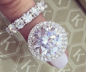 diamond, nails, and ring image