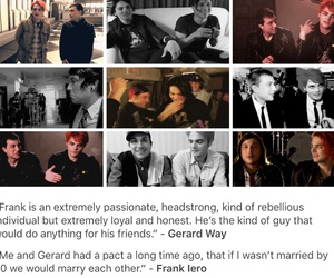 frank iero, gerard way, and my chemical romance image