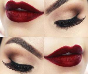 eyes, red, and lips image