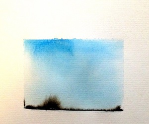 art, blue, and Paper image