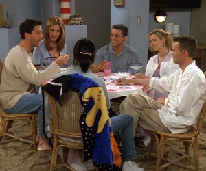chandler bing, phoebe buffay, and f r i e n d s image