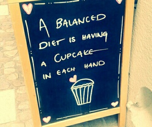 cupcake, diet, and funny image