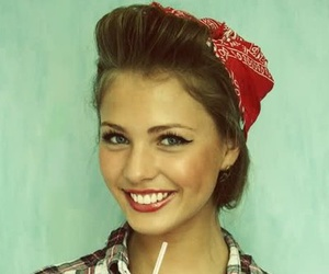 girl, pretty, and Pin Up image