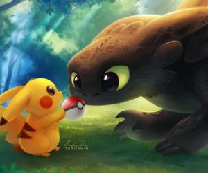pikachu, pokemon, and toothless image