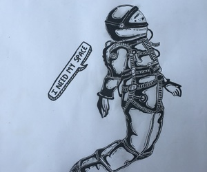 astronaut, astronauta, and dibujo image