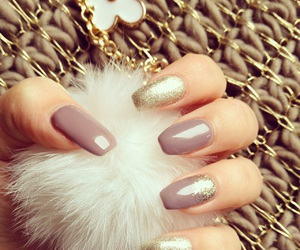 glitters, gold, and nails image