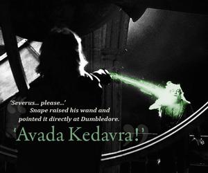 harry potter, avada kedavra, and dumbledore image